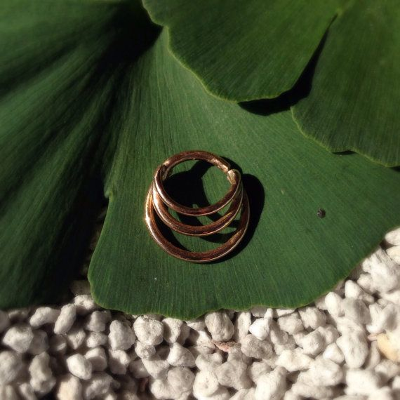 14k Solid Rose Gold Septum Ring. 16g by JewelrybySarahink on Etsy