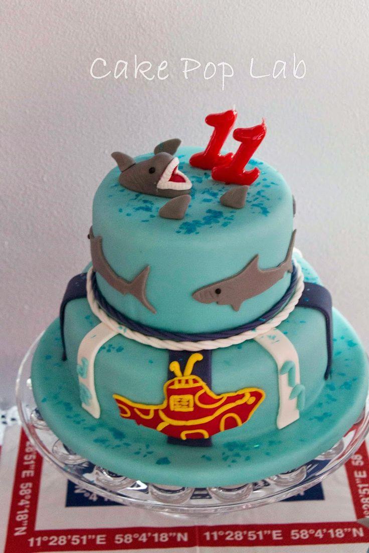 It´s Shark Week 2014 Shark and Shark Fin Cake | Bolo Tubarão e Barbatana de Tubarão