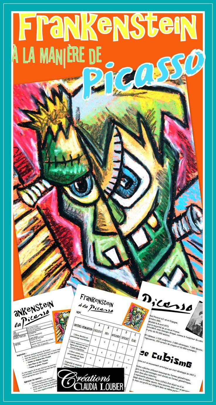 Initier vos élèves au cubisme et à Picasso dans un projet original d'Halloween ! Vos élèves auront à créer un Frankenstein à la manière de Picasso, un artiste incontournable ! Un projet rapide avec peu de matériel !