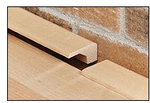 Square Nose: Square noses are used with floating hardwood floors. They are perfect for filling in the expansion gap between floors and vertical surfaces such as brick or glass, surfaces that cannot be framed by a quarter round or a wall base.