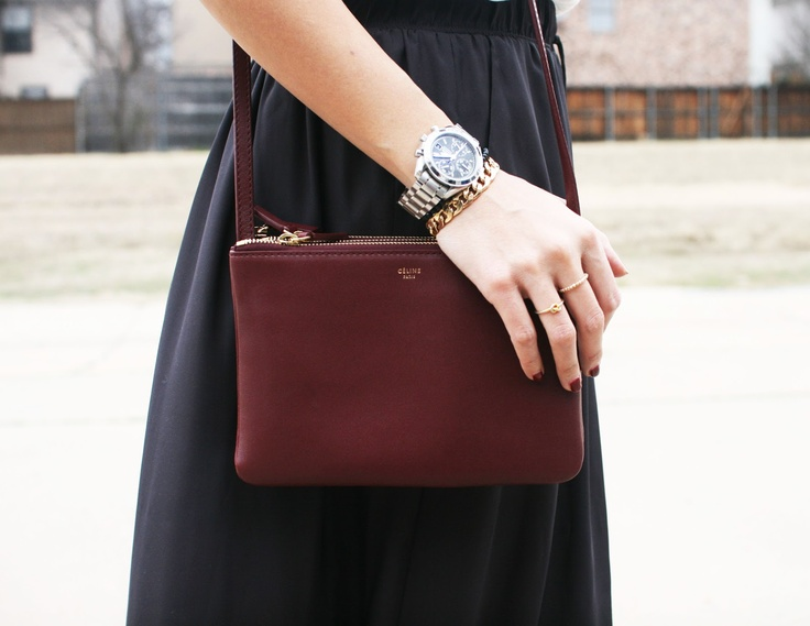 burgundy celine trio via neato bonito | style and fashion ...