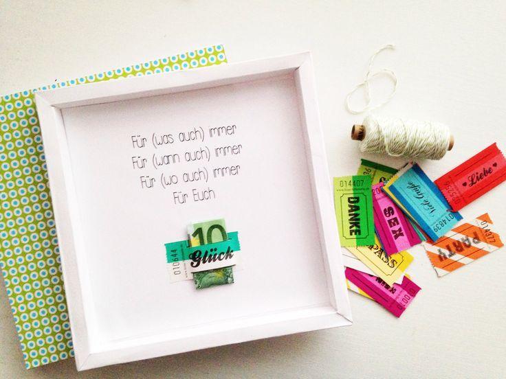 Geldgeschenk - für was auch immer  Geschenke  Pinterest  Selber ...