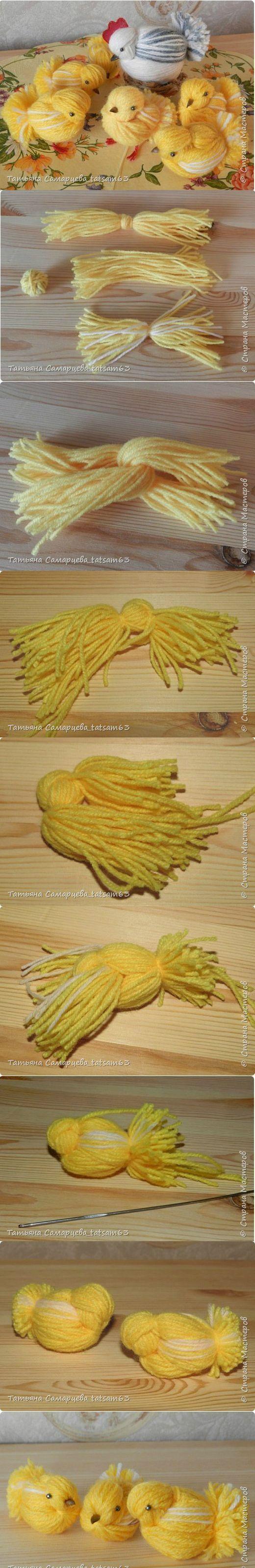 (1) Pinterest • Всемирный каталог идей  Yarn chickens