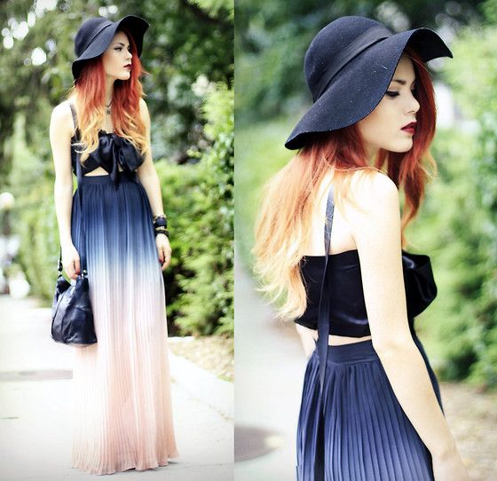 Ombre Skirt (by Lua P) http://lookbook.nu/look/3974288-Ombre-SkirtVogue Fashion, Ombre Skirts, Ombre Hair, Style Hair, Shorts Prom Dresses, Long Skirts, Hats Hair, The Dresses, Maxis Skirts
