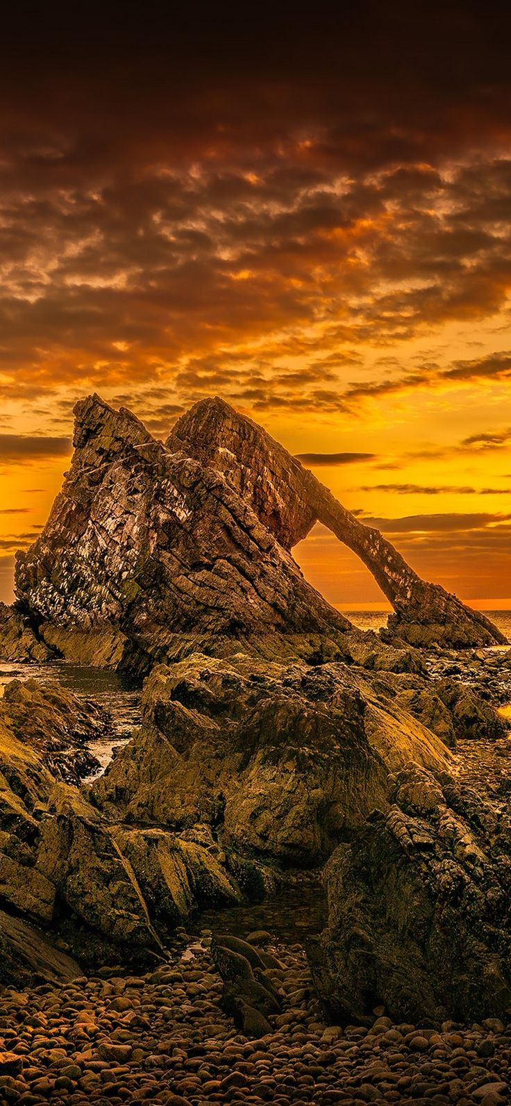 True Nature Sunset Rock Wallpaper iPhone Xr 12 (With