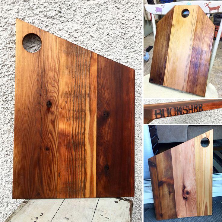 Reclaimed cedar serving board. Cutting board, woodworking, reclaimed wood