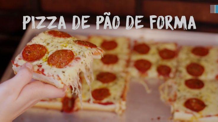 O clássico dos lanches rápidos: veja como preparar Pizza de Pão de Forma