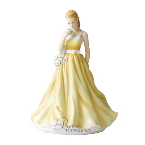 March Jonquil Flower of the Month Royal Doulton Figurine HN 5502