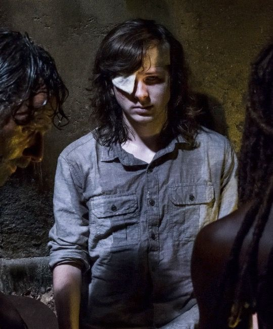 Carl Grimes, Rick Grimes and Michonne in The Walking Dead Season 8 Episode 8 | How It's Gotta Be