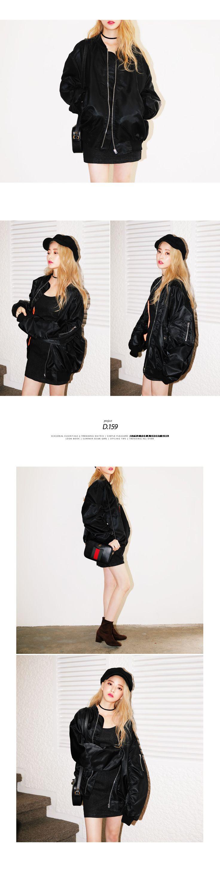 ビッグシルエットMA-1ジャケット・全2色アウターパーカー・ブルゾン|レディースファッション通販 DHOLICディーホリック [ファストファッション 水着 ワンピース]