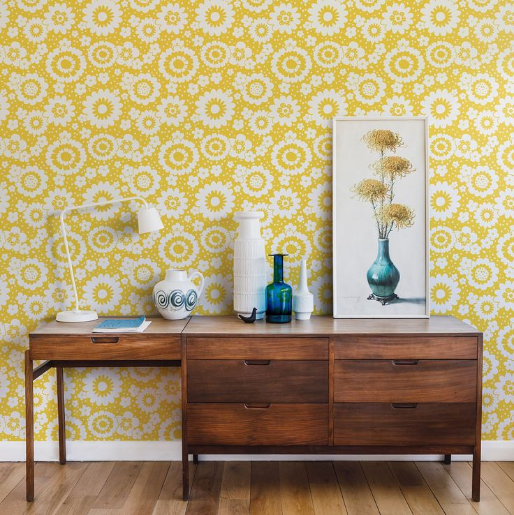 Layla Faye Mod Meadows Buttercup Yellow Wallpaper extra image