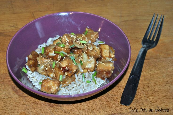 Tofu frit au poivre