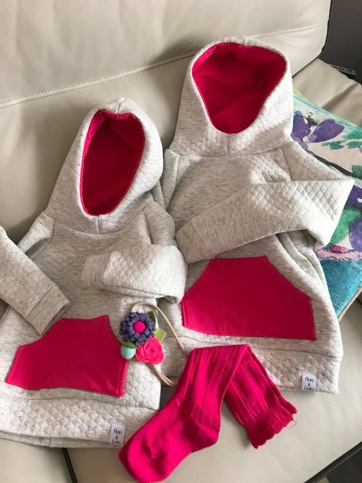 Finn & Grin Quilted Quinn Hoodies! These hoodies are so warm and cozy. Perfect for keeping your little one warm on a cold day!