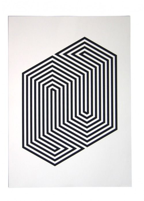 44 best images about lines linien on pinterest for Geometric illusion art