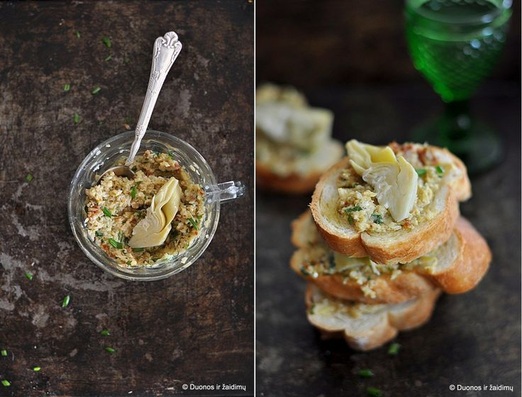 Crostini su artisokais | Appetizers (crostini, bruschetta, and toast ...