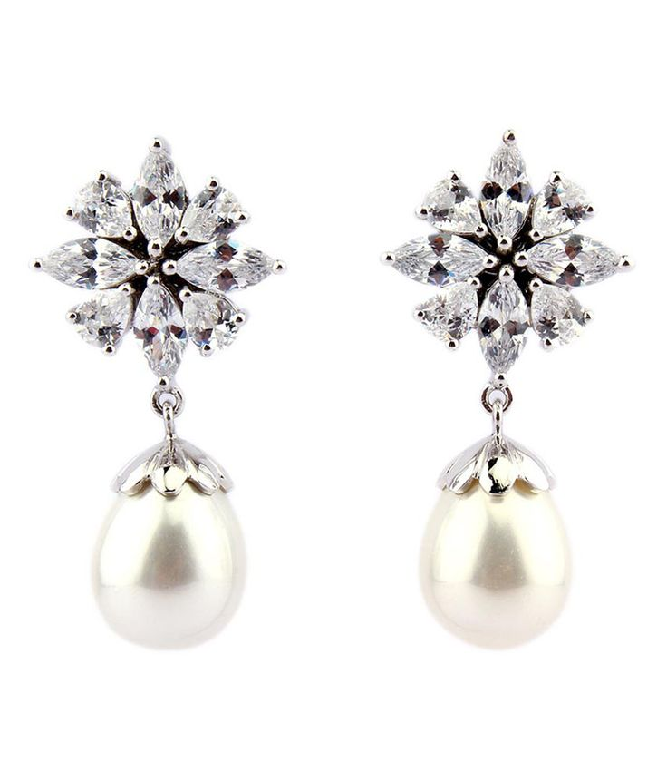 The Tiara 15.80 Grams Pearl Cubic Zircon Silver Earrings, http://www.snapdeal.com/product/the-tiara-1580-grams-pearl/698697352