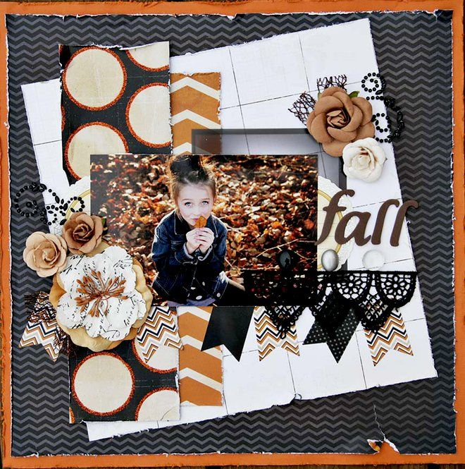 fall scrapbooking layout