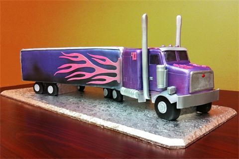Semi Truck Cake - Oh Michelle I need one of these for someone's birthday
