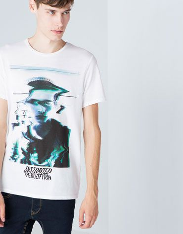 Bershka Guatemala -Camiseta print distorsionado