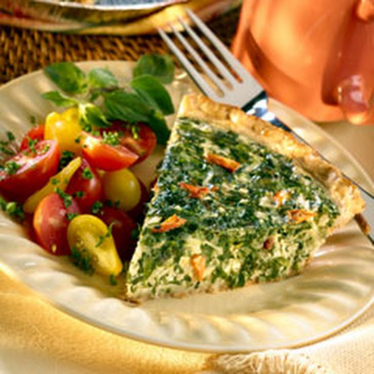 Spring Vegetable Quiche Recipe Lunch, Breakfast and Brunch with eggs, milk, swiss cheese, frozen chopped spinach, knorr spring vegetable recipe mix, refrigerated piecrusts