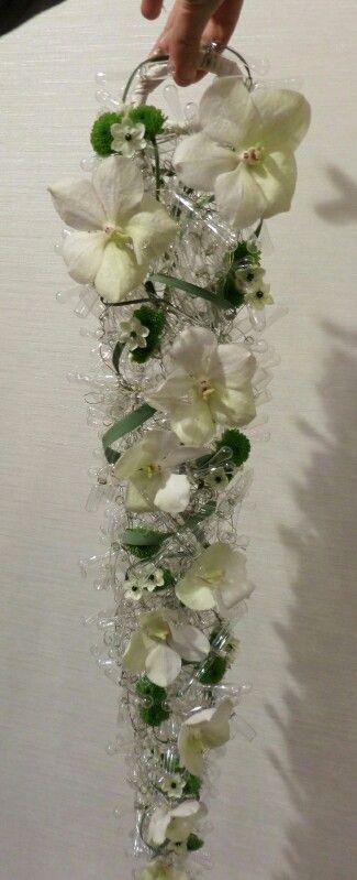 Wedding bouquet made of glass