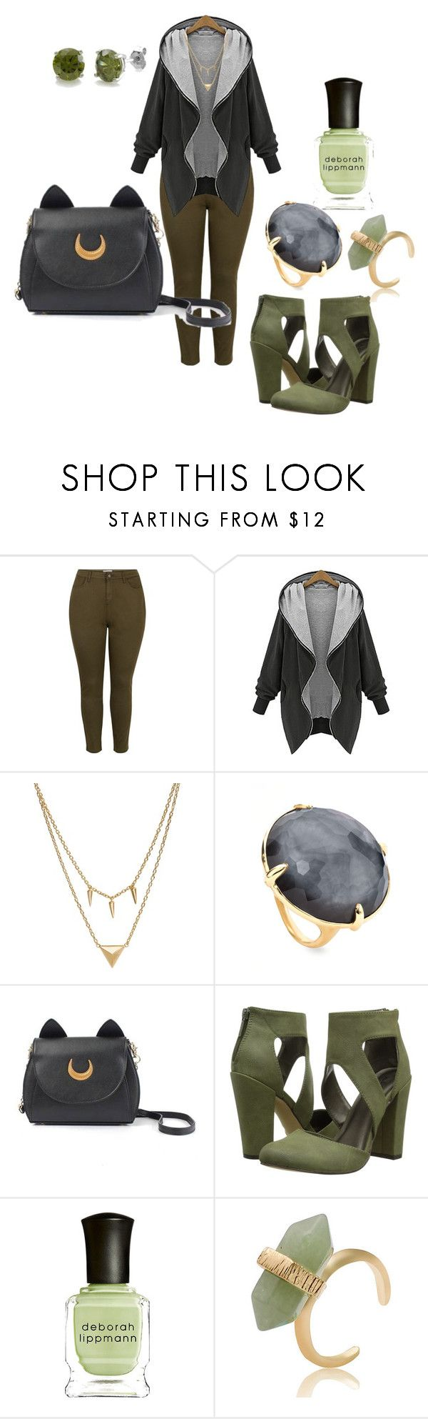 """Natural Casual Plussize outfiT"" by migalowa on Polyvore featuring Edge of Ember, Ippolita, Michael Antonio, Deborah Lippmann, BERRICLE, women's clothing, women's fashion, women, female and woman"