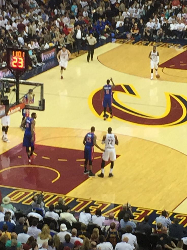 Went to the Cavs Vs Pistons playoff game tonight! What a blast!   Cleveland Cavaliers #AllIn