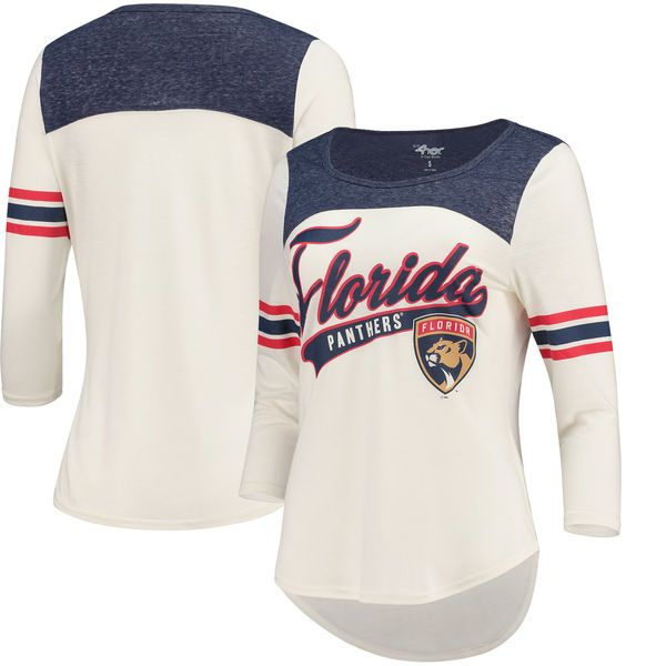 outlet store ef065 15004 Women's Florida Panthers G-III 4Her by Carl Banks Cream/Navy ...