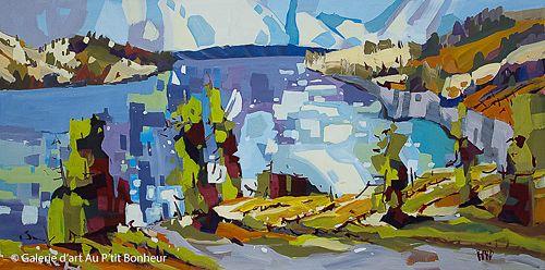 Rick Bond, 'Okanagan Summer Tartan', 24'' x 48'' | Galerie d'art - Au P'tit Bonheur - Art Gallery
