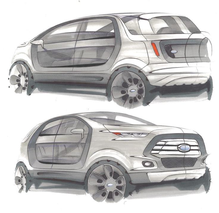 Sketch Ford Ecosport 2022