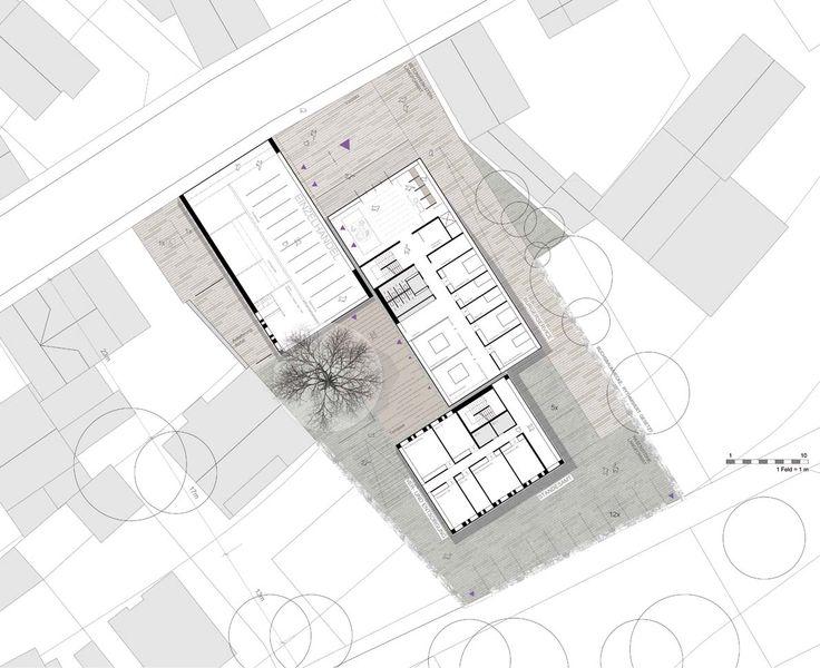 Grundriss erdgeschoss rathaus architektur pinterest for Innenarchitektur studium leipzig