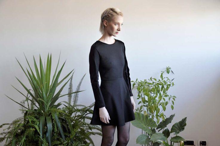 Aroma30 - Minimal chic Jersey dress with layers