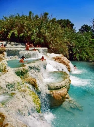 Mineral Baths, Tuscany,  if not on the InterRail trip then an anniversary?