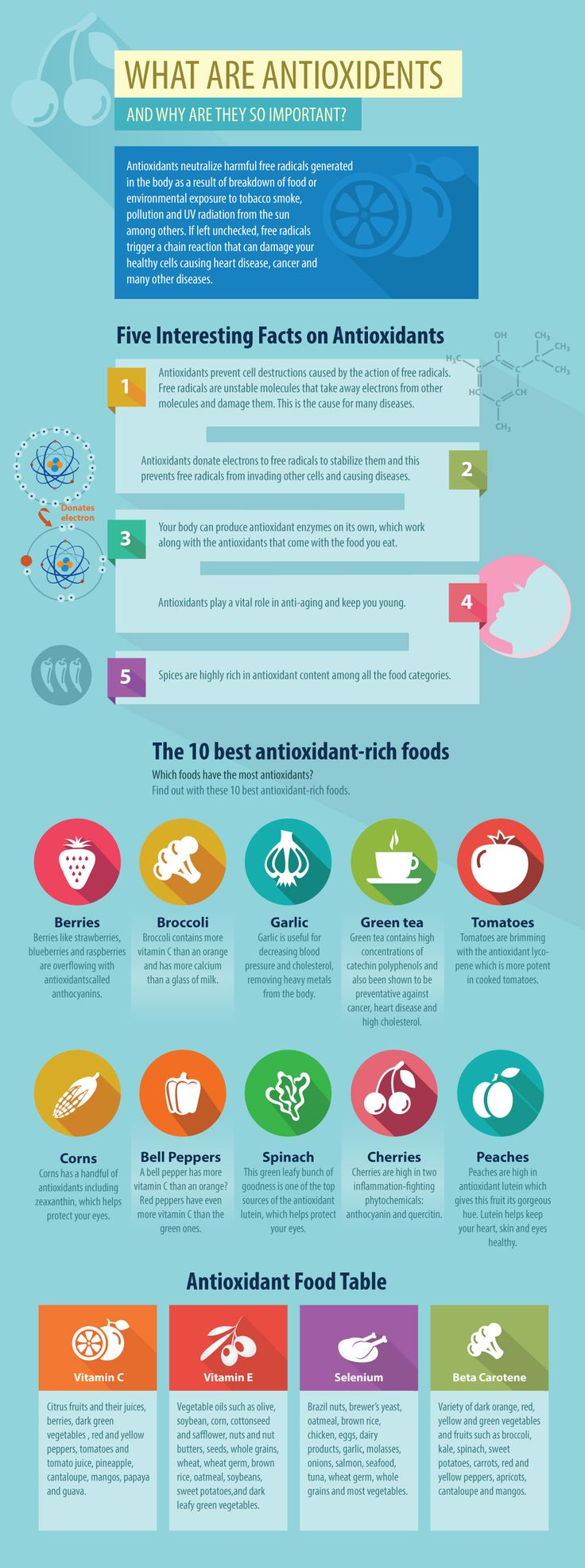 Infographic: What Are Antioxidents And Why Are They So Important?