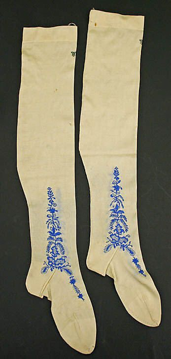 Stockings - 19th century, French, silk, The MET