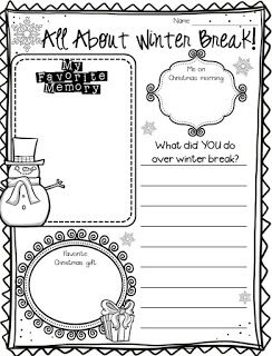The Inspired Classroom: Write About Winter Break