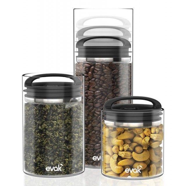 Prepara Evak Glass Airtight Storage Jar with Compact Handle, Medium