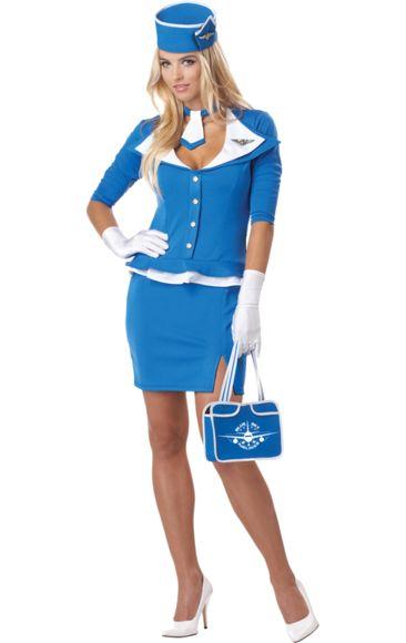 Retro Stewardess Costume | Jokers Masquerade