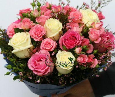 rózsaszín bokros csokor (20 szál)