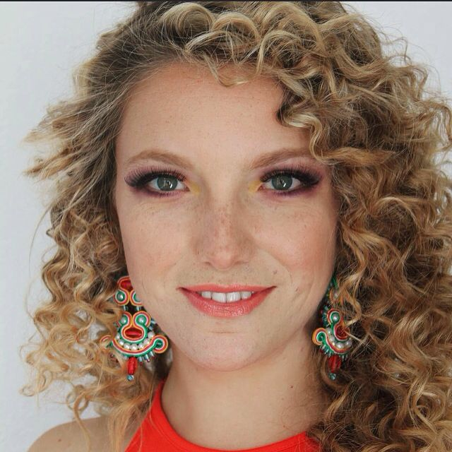 Beautiful face and curly hair