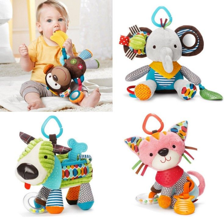 animal plush toys baby toy and comforting doll bed hanging bell  with teether - http://manydolls.com/?product=animal-plush-toys-baby-toy-and-comforting-doll-bed-hanging-bell-with-teether