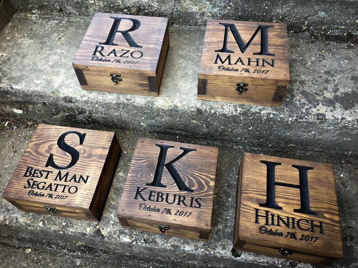 Set of 5-12 - Groomsmen gift - Groomsmen box - Gift for men - Keepsake box - Memory box - Wedding gifts - Wedding gift for him - Gift box by YouandIcollection on Etsy https://www.etsy.com/listing/513104443/set-of-5-12-groomsmen-gift-groomsmen-box