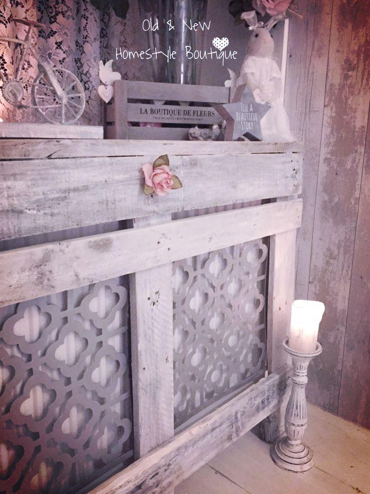 Pallet wood radiator cover