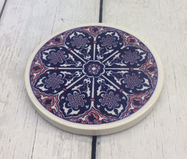 TURKISH CERAMIC COASTER, 0028