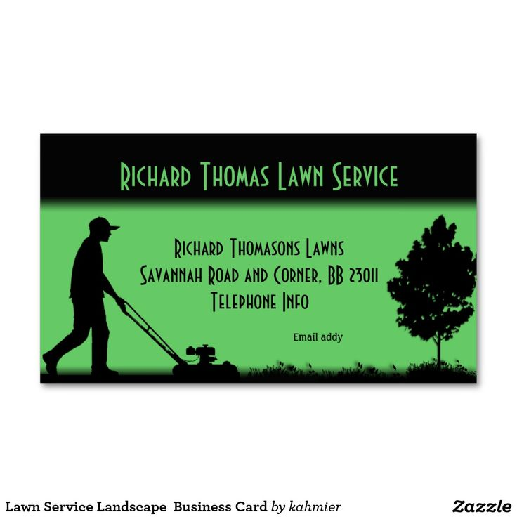 Lawn Service And Landscape: Lawn Service Landscape Business Card