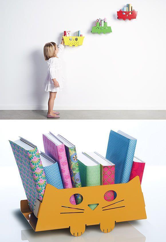 Ciekawe półki na książki dla dzieci – inspiracje.