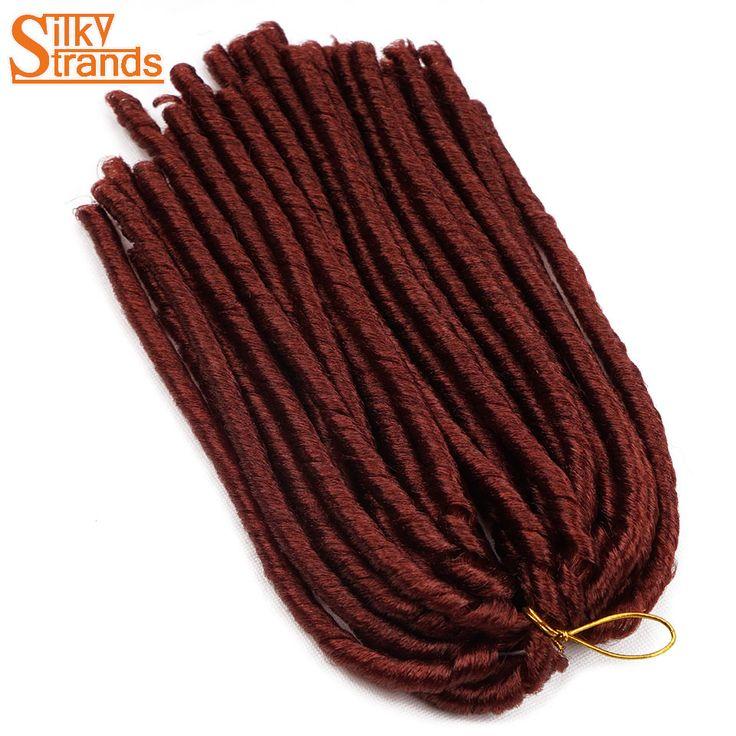 Silky Strands 7PCS/Lot Crochet Dreadlocks Extensions Ombre Synthetic Crochet Braids  Low Temperature Hair Braiding 14'' 30Roots #Affiliate