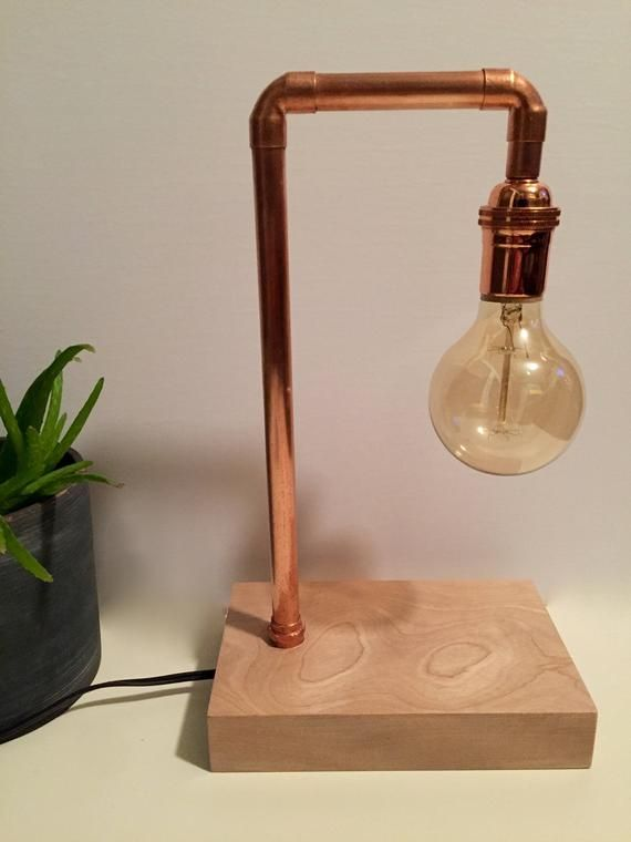 Plant Copper Pipe Lamp