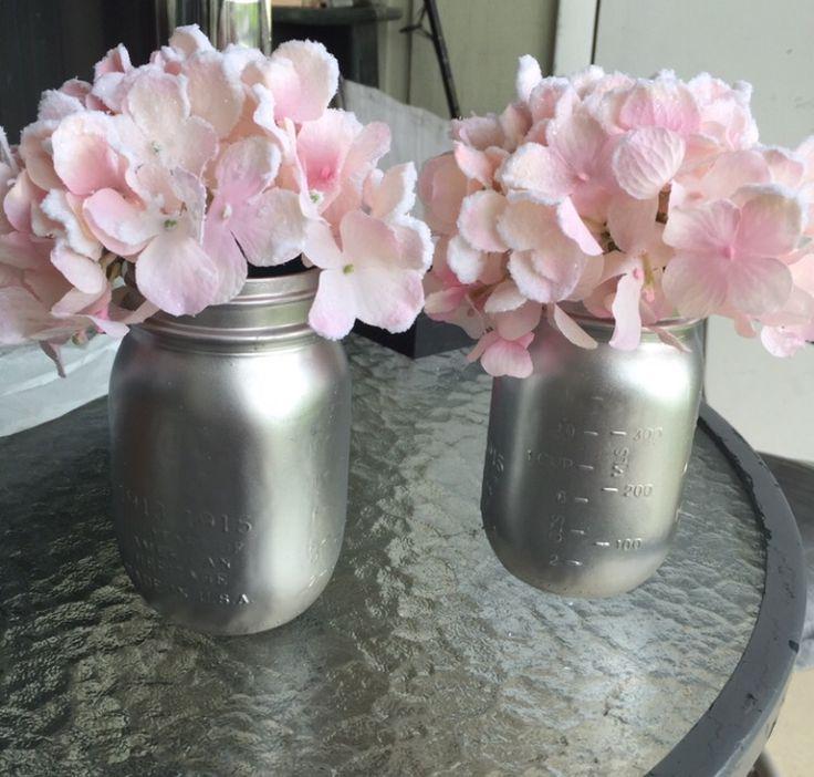 pink baby shower silver pink princess baby shower mason jars flower girl shower coral pink