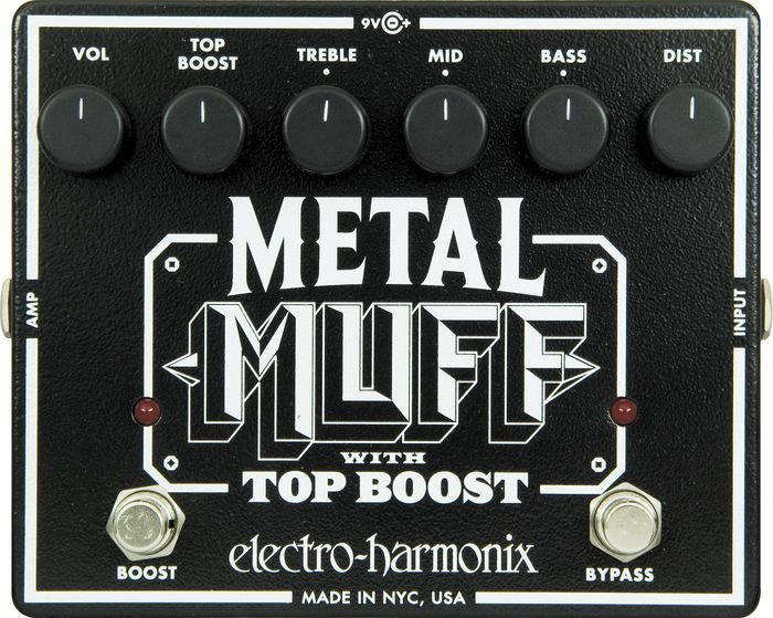 Electro Harmonix XO Metal Muff w/ Top Boost Distortion Guitar Effects Pedal. Lovely sound.